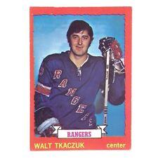 1973 74 OPC O Pee Chee Walt Tkaczuk 25 New York Rangers Ice Hockey Card E613