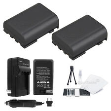 2x NB-2LH Battery + Charger for Canon ZR800 ZR830 ZR850 ZR900 ZR930 ZR950 ZR960