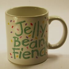 Jelly Bean Fiend Coffee Mug Cup Peacock Papers Boston Decorative Collectibles