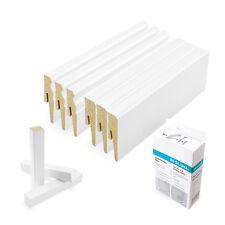 MDF Sockelleisten ab 10 Meter 80mm bis 120mm Fußleiste Bodenleiste weiß 2,5m Set