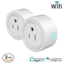 2 Pack Wifi Enabled Smart Plug for Google Home Assistant, Amazon Echo Alexa