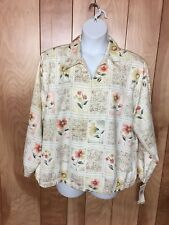 WOMEN'S ALFRED DUNNER PETITE WOMAN FLORAL LIGHTWEIGHT JACKET-SIZE: 22WP
