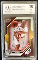 2009 2010 Upper Deck Draft Edition #40 James Harden RC BCCG 10 -  Fast Shipping!