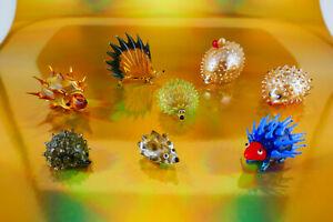 Murano Lauscha Bimini etc.- Glas-/Tierfiguren - Igel - 8 Stck.