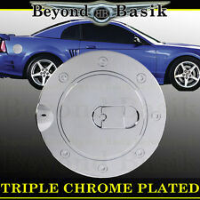 1999-2004 FORD MUSTANG Triple ABS Chrome Fuel Gas Door Cover Trim Overlay Cap