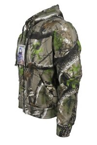 Stormkloth Trek Camo Zip Hooded Top Camouflage Hoody Zipper Fishing Hunting