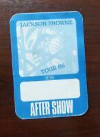 Jackson Browne Tour 1986 - Aftershow Pass - VIP - unbenutzt -