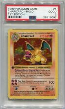 Pokemon Tarjeta 1st Edición Shadowless Charizard Base Set 4/102 , PSA 2 Buenos
