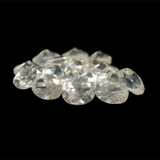 White Cambodian Zircon VVS-VS Gemstones 3.80 tcw. 15 pcs. Oval Cut