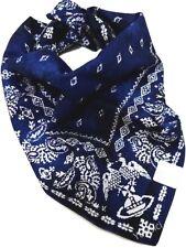 Vivienne Westwood Man Cotton Handkerchief Scarf Paisley Orb Twin Eagle-53cm