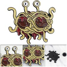 Flying Spaghetti Monster Enamel Pin Funny Badge Alloy Brooch for Women Men Gift