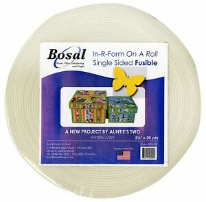 In-R-Form Single Sided Fusible Foam Stabiliser Off White 5.7cm x 18.2m