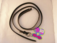 """Pacha Ibiza Black Thin Double Wrap Belt with Embossed """"Pacha"""" Detail - Two Sizes"""