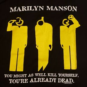 "Rare Marilyn Manson Authentic Vintage ""You Might As Well Kill Yourself"" 1996 XL"