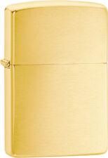 New Zippo Lighter Brushed Brass ZO10780