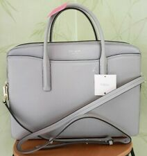 KATE SPADE MARGAUX UNIVERSAL LAPTOP BAG:NWT TRUE TAUPE LEATHER