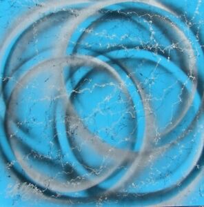 Modernist LARGE ABSTRACT PAINTING Expressionist MODERN TIMELESSNESS FOLTZ