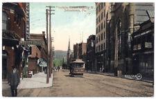 JOHNSTOWN PENNSYLVANIA – Franklin Street Looking North Antique Postcard