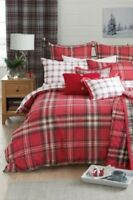 BRAND NEW WITH TAGS NEXT RED CHECK BED THROW KING/SUPER KING 260 CM X 260 CM