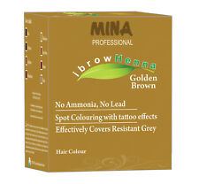 MINA Ibrow Henna Golden Brown Refill Pack & Tinting Kit For Eyebrow Color-12gm