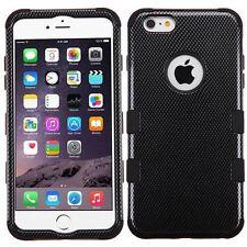 "New Tuff HYBRID Hard Case Cover Carbon Fiber Black For Apple iPhone 6 PLUS 5.5"""