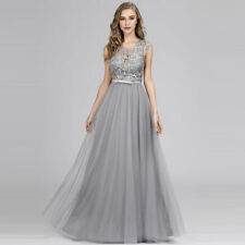 Ever-Pretty Elegant Long Formal Grey Holiday Gown A-Line Bridesmaid Dress 07609