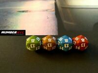 4x MTG Magic The Gathering Dice D20 Die Khans of Tarkir Green Brown Blue Red