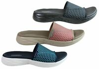 NEW SKECHERS WOMENS ON THE GO 600 NITTO CUSHIONED COMFORT SLIDE SANDALS