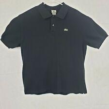 Lacoste Mens Size 7 3XL Polo Shirt Black