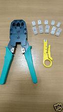 Rj45 Rj11 Red Teléfono Cable Modem herramienta crimpadora arrugador 6p6c 4P4C IDC Herramienta