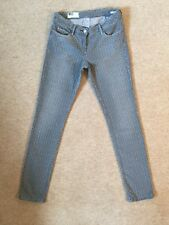 WAS Norma cropped gris Chaîne Motif Extensible Coupe Slim Jeans US 27/UK 9 très bon état