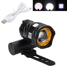 Rechargeable 15000LM XML T6 LED USB Adjust Front Head Bicycle light w/Battery