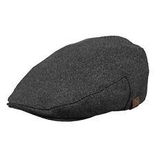 Barts Dayton Flat Cap Hat Black Medium