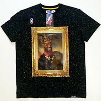 POST GAME MENS 100%AUTHENTIC SIZE LARGE BLACK KING 6 S/S T-SHIRT king James