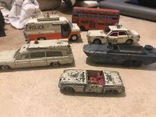 JOB LOT 6 x DINKY SCRAP YARD POLICE TRANSIT FORD ZODIAC BUS DUKW CRITERION MGB