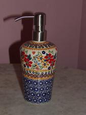 Polish Pottery Lotion Soap Dispenser!  UNIKAT Signature Rembrandt Pattern!