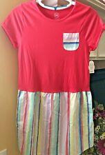 Wonder Nation Coral Girls Shirt Dress Xl 14-16