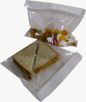 Film Front Cellophane Paper Clear Window Sandwich Bags - Various Sizes