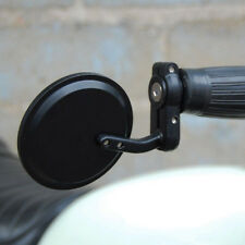 New Pair Round Black Convex Motorcycle Bar End Mirrors For Honda GROM 125 MSX125