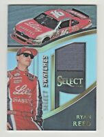 2017 Panini Select Racing SWATCHES RACE USED SILVER PRIZM RELIC RYAN REED NASCAR