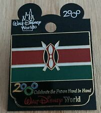 Millennium Village WDW Flag Pin Kenya Pavilion 2000 Disney Pin NEW ON CARD