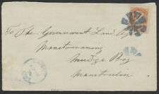 1878 Blue Barrie Ont CDS And Cork Cancel On Cover to Manitowaning