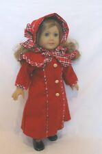 "Doll Clothes AG 18"" Samantha Dress Coat Hat Red Wool Fits American Girl Dolls"