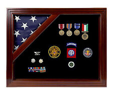 Freedom Display Cases Military Award Shadow Box with Display Case for 3x5ft Flag