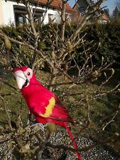 Decorative Figures, Ara, Parrot Handmade 623097 Red