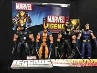 MARVEL LEGENDS WOLVERINE LOT OF 4 FIGURES LOOSE