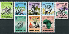 Rwanda 1978 MNH Scout Association 10th Anniv 8v Set Baden-Powell Scouting Stamps