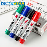 White board whiteboard markers pens dry easy wipe markers with CLIPS & 6 Colours