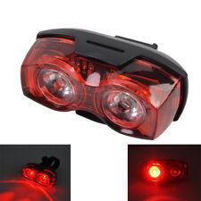 3 Mode 2 Red LED Bicycle Bike Rear Light Safety Warning Flashing Tail Light