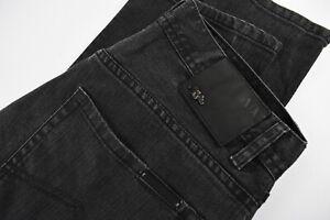 ARMANI JEANS J130 Men's W32/~L31* Slim Fit Stretchy Zip Fly Black Jeans 31718_GS